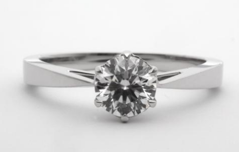 Tapered Solitaire Engagement Ring Engagement Ring Wall