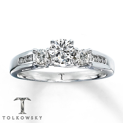 Kay Jewelers 5 8 Ct Round Cut Diamond Engagement Ring In