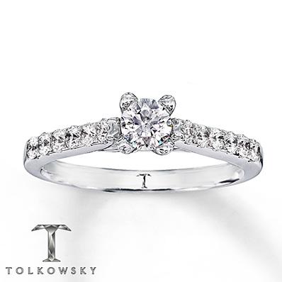 Kay Jewelers 14k White Gold 5 8 Carat Engagement Ring Engagement Ring Wall