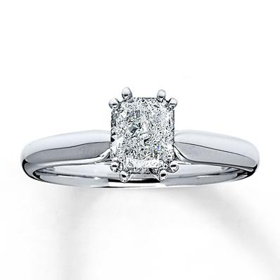 1 CARAT SOLITAIRE RADIANT CUT DIAMOND ENGAGEMENT RING  eBay