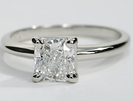 classic solitaire engagement ring in platinum engagement