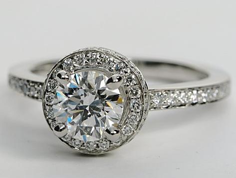 pave diamond wedding rings