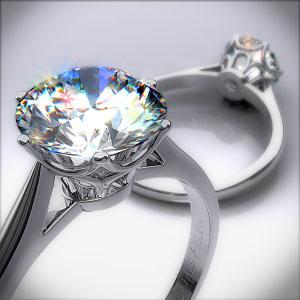 Royal Crown Engagement Ring