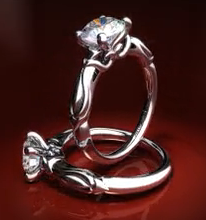 Wrapped Hearts Engagement Ring