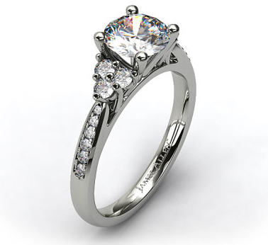 18 Stone Pave/Sidestone Engagement Ring