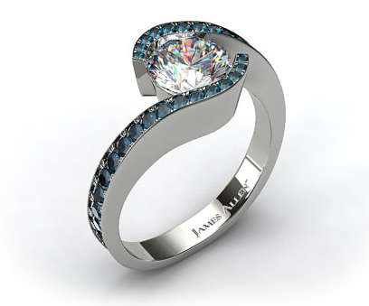 Pave Tension Engagement Ring