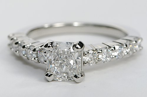 """Bella"" Diamond Sidestone Engagement Ring"