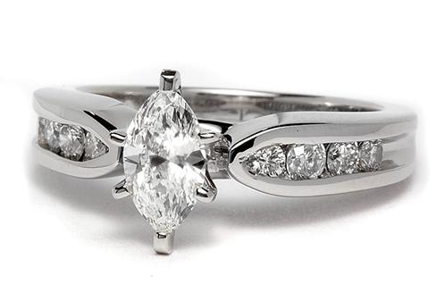 """Bow Tie"" Channel Set Engagement Ring"