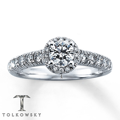 Kay Jewelers 1 ct tw Tolkowsky Engagement Ring in White Gold