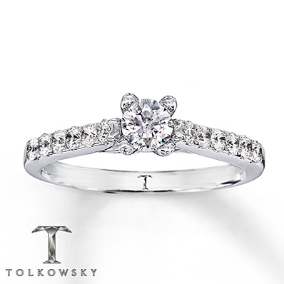 Kay Jewelers 14k White Gold 5/8 Carat Engagement Ring