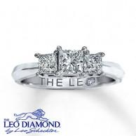 7eeac9b2d Kay Jewelers Three-Stone Princess Cut Engagement Ring in 14K White Gold