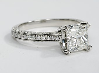 Heirloom Antique Pave Engagement Ring