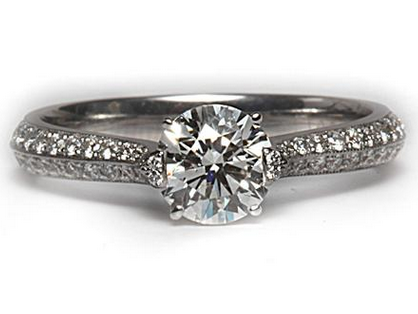 Micropave Designer Engagement Ring