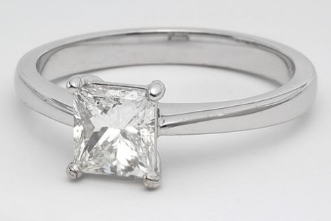 Thin Solitaire Engagement Ring