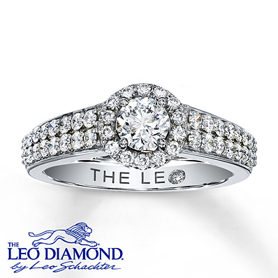 Kay Jewelers Leo Diamond Engagement Ring in 14K White Gold – 7/8 ct tw