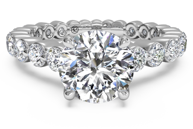 Engagement Ring With Shared-Prong Band in Platinum – 0.70 ct tw