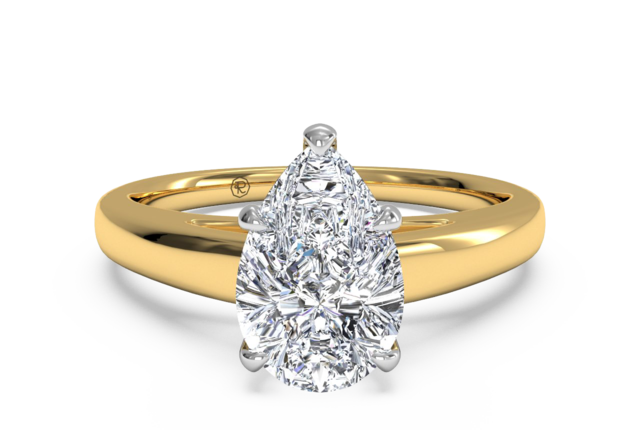 X-O Solitaire Engagement Ring in 18kt Yellow Gold