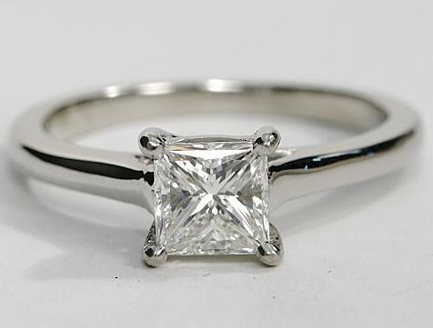 Petite Trellis Platinum Solitaire Engagement Ring