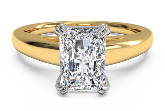 Cathedral Double-Prong Solitaire Engagement Ring in 18k Yellow Gold