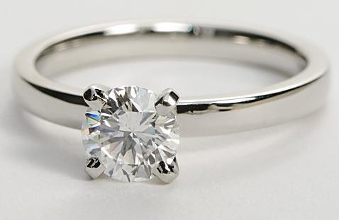 Comfort Fit Solitaire Engagement Ring in Platinum