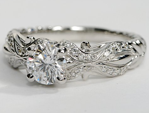 eiros™ Designer Engagement Ring in 14k White Gold