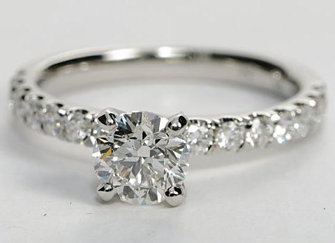 Classic Pave Engagement Ring in Platinum