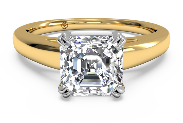 Tulip Cathedral Solitaire Engagement Ring – in 18kt Yellow Gold